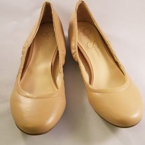 Jessica Simpson beige flats - Size 9.5